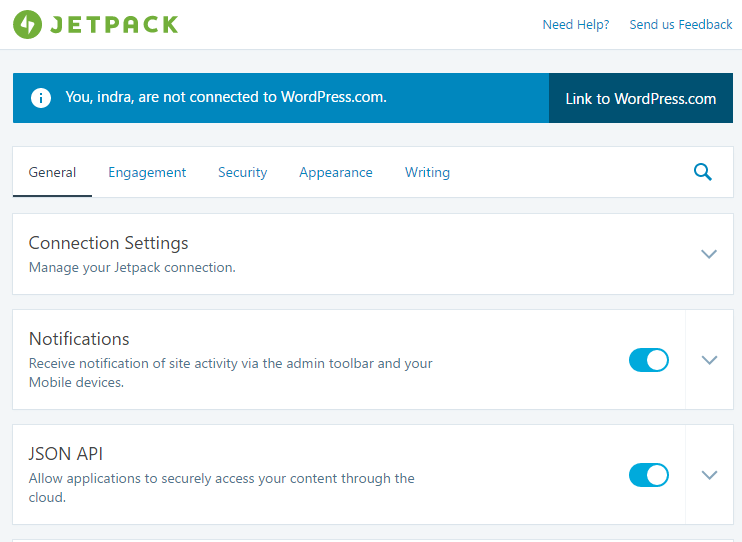 cara setting plugin jetpack