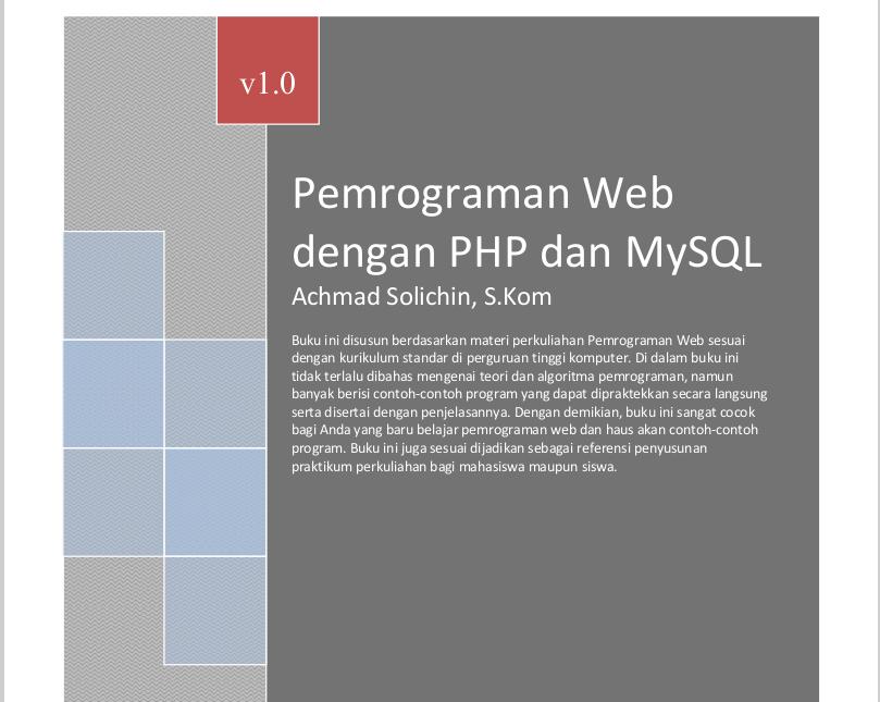 Ebook Belajar Bahasa Pemrograman PHP dan MySQL