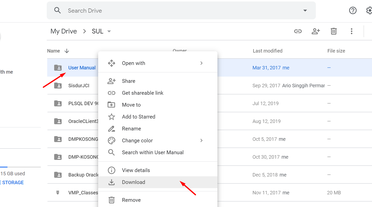 memindahkan file dari google drive ke one drive