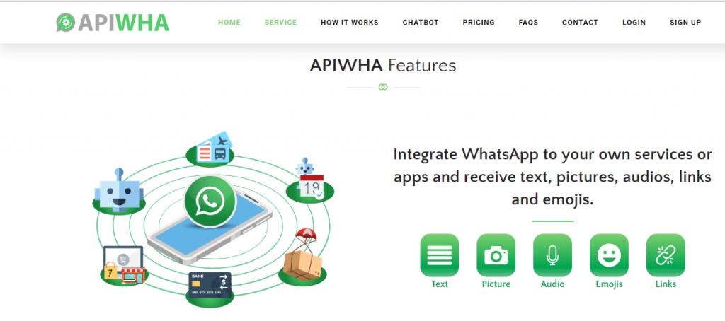 mengirim dan membaca pesan whatsapp