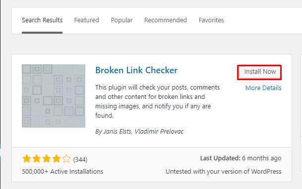 menemukan broken link