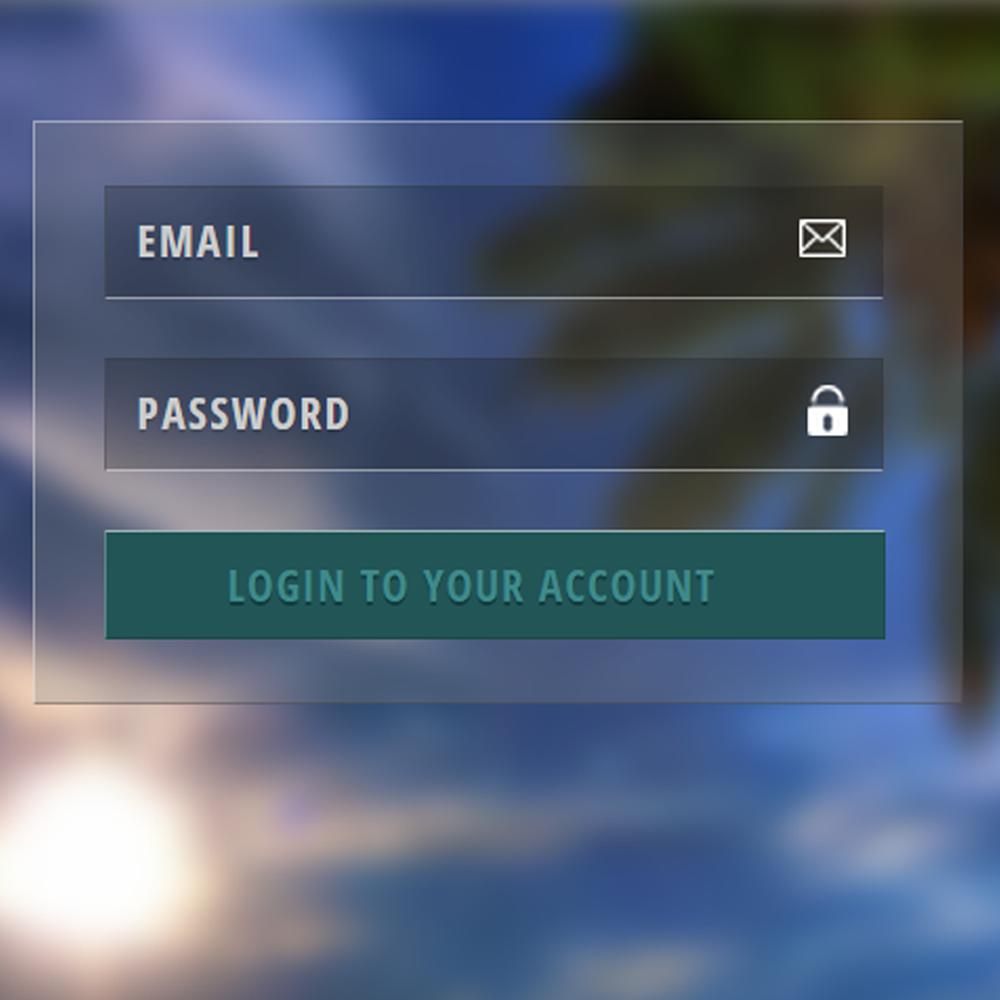 desain form login