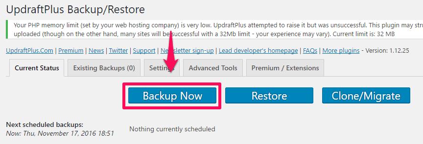 Cara Praktis Backup Konten Website dengan Plugin UpdraftPlus