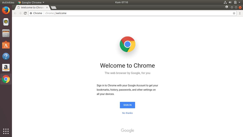 install google chrome di linux