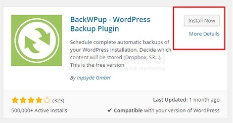cara backup website wordpress